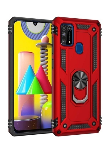 MobilCadde MobilCadde Eiroo Magnet Ring Samsung Galaxy M31 Ultra Koruma Kılıf Renkli